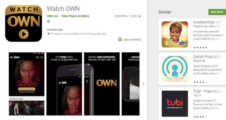 own tv network app