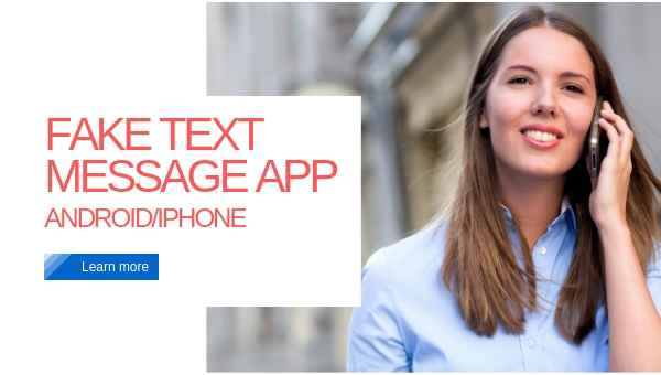 fake text message app