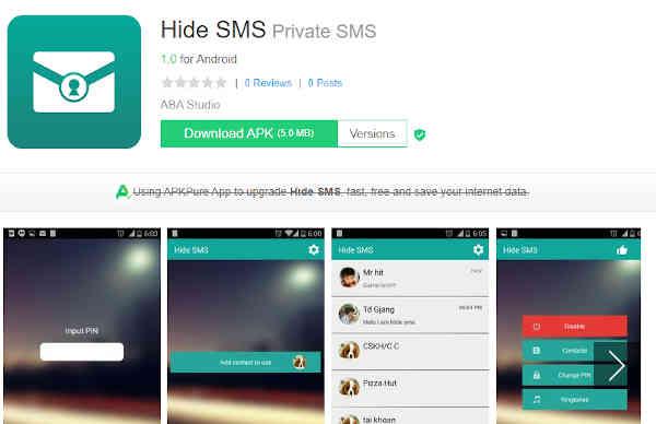 hidden text app